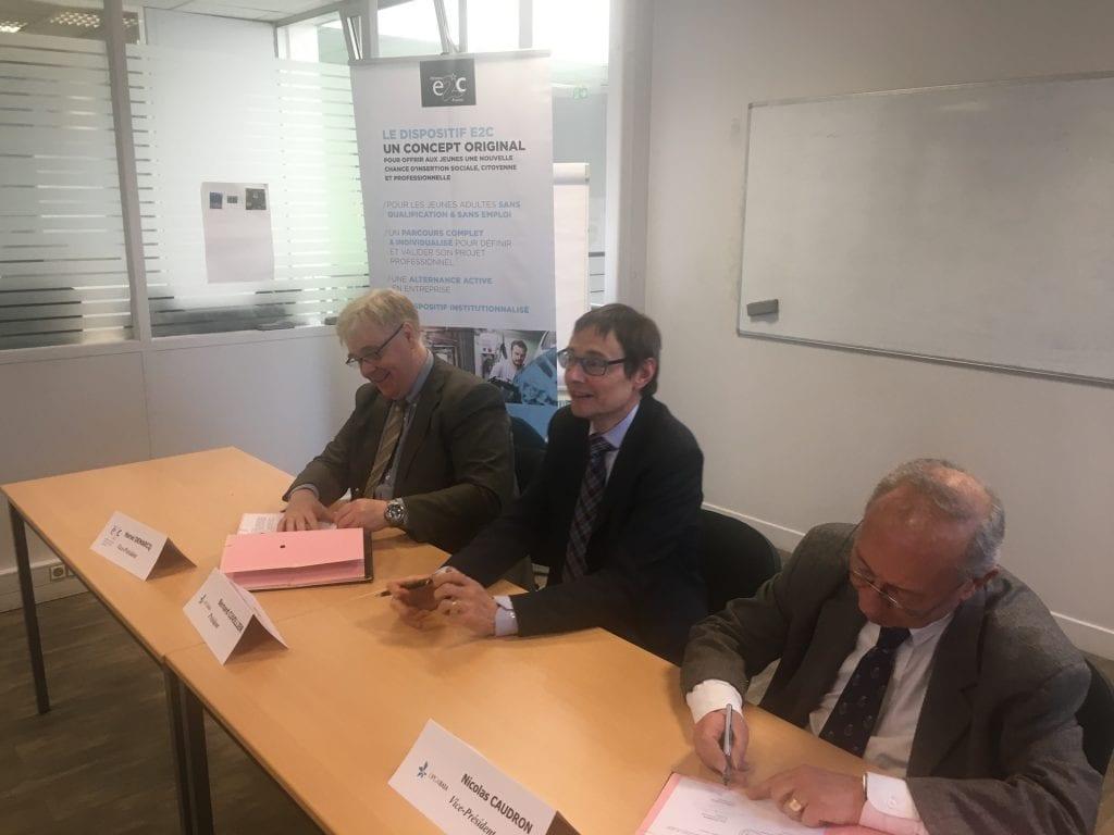 Signature convention partenariat Réseau E2C et OPCABAIA